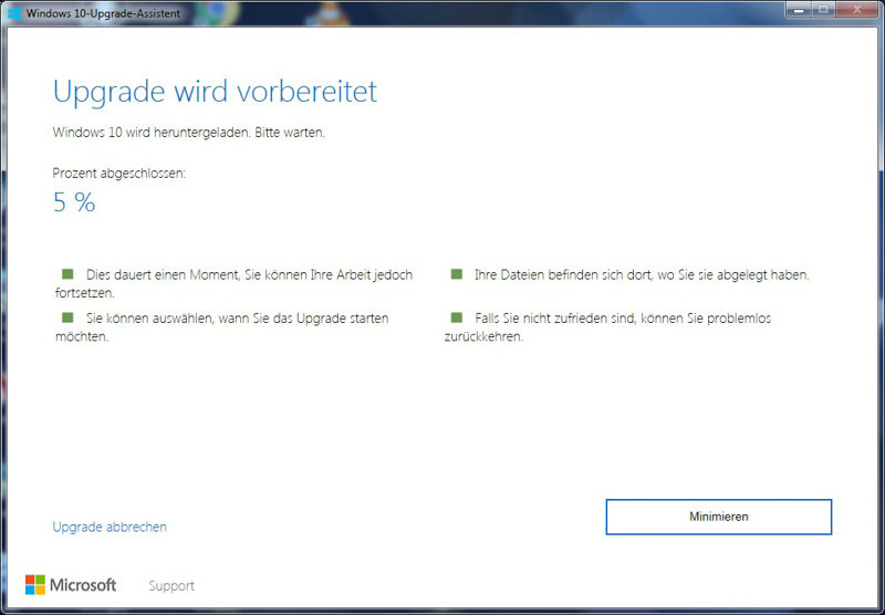 Windows 10 Upgrade Assistent