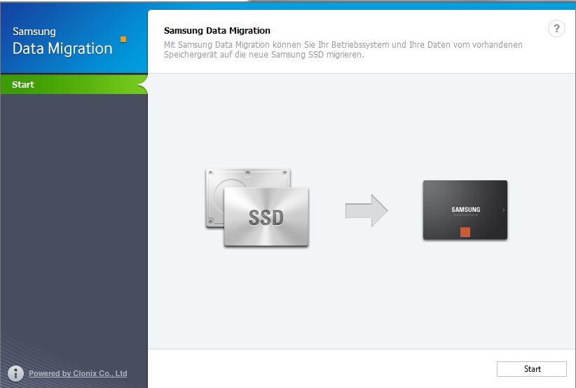 Samsung Migration Tool Schritt 1