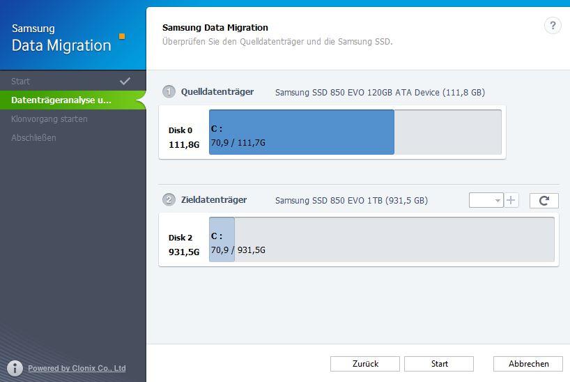 Samsung Migration Tool Schritt 2