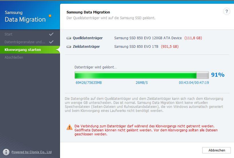 Samsung Migration Tool Schritt 3