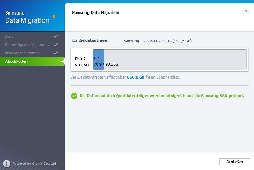 Samsung Migration Tool Schritt 4